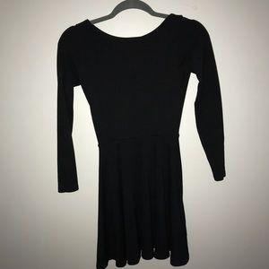 black american apparel long sleeved dress